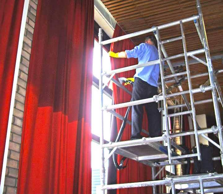 School curtain cleaning